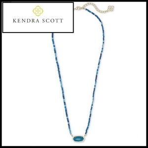 Kendra Scott Elisa Beaded Pendant Necklace & Pouch
